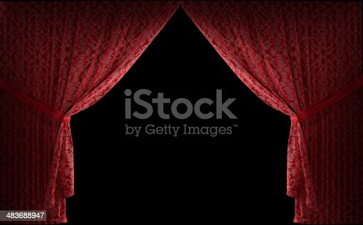 istock Textured stage curtains 483688947