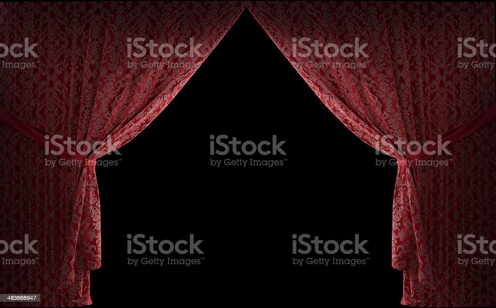 Textured stage curtains stock photo