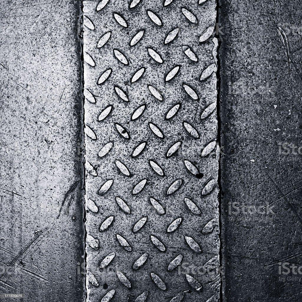 Textured steel non-slip surface - Royalty-free Alloy Stock Photo