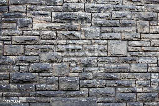 Stone wall backdrop. Square patterns and texture