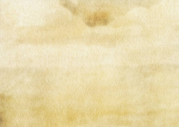 textured watercolor beige brown abstract background - beige background stock photos and pictures
