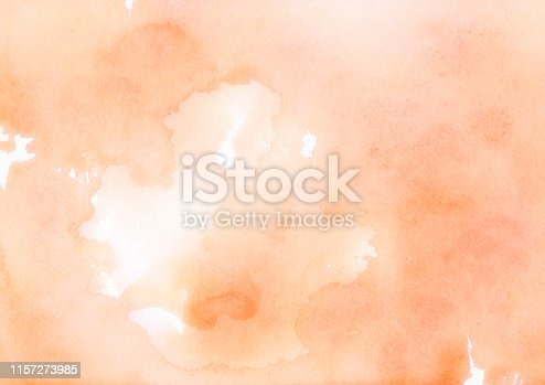 Smooth Textured Background Watercolor Painting in Orange