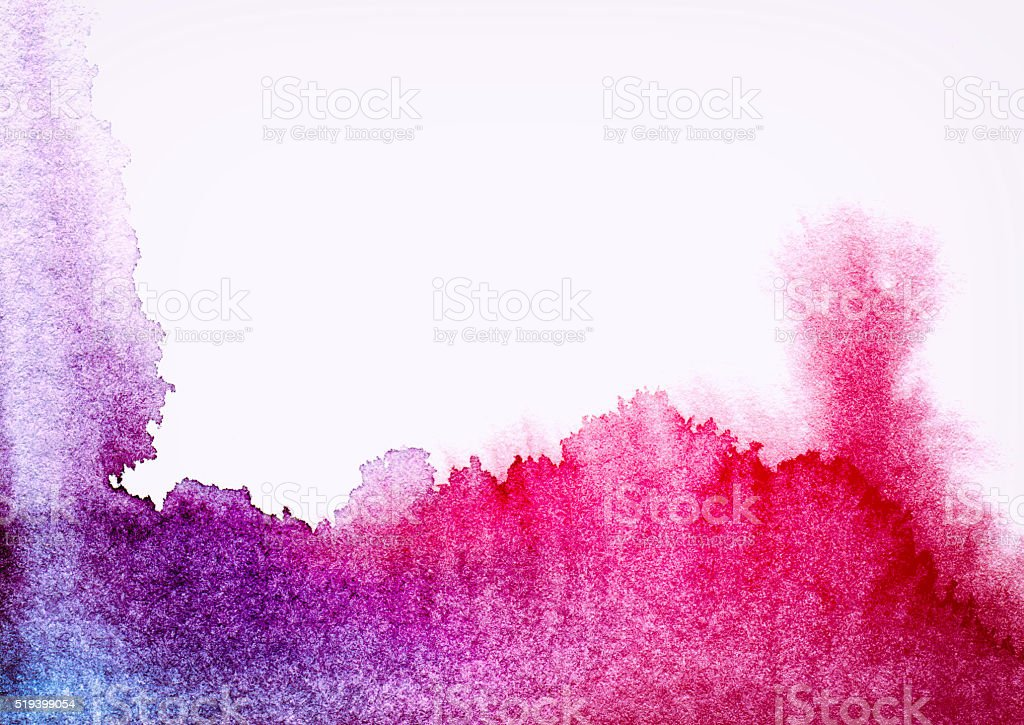 Textured Watercolor Painting Multi Colored Backgrounds stock photo
