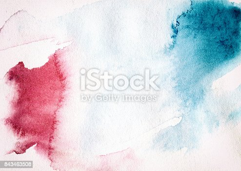 istock Textured Watercolor Painting Multi Colored Backgrounds 843463508