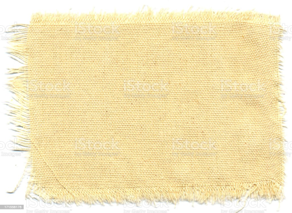 Texture-Ripped Canvas 1 royalty-free stock photo