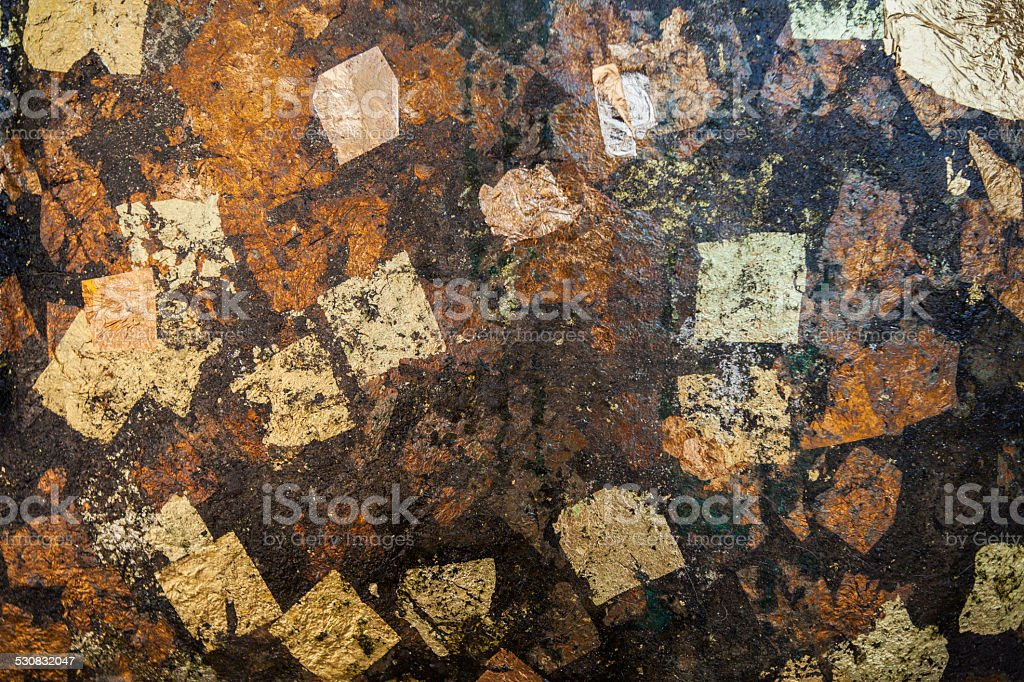 Textures of gold leaf stock photo