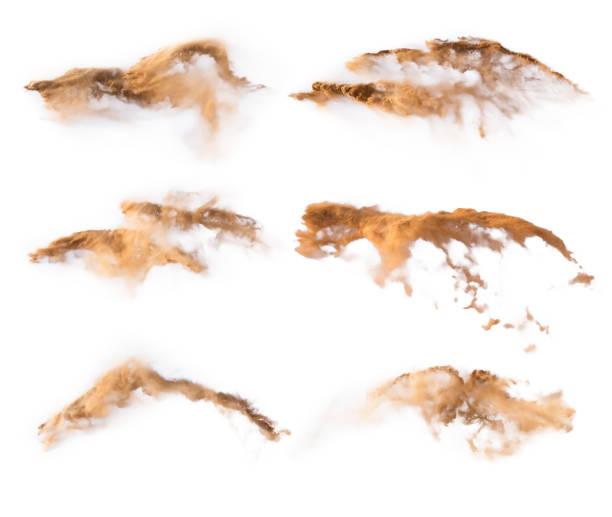 Texturen von Sand Pulver auf weißem Hintergrund – Foto