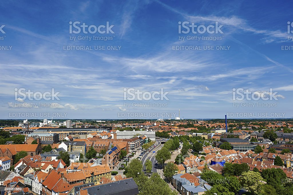 Th. B. Thriges Gade in Odense stock photo
