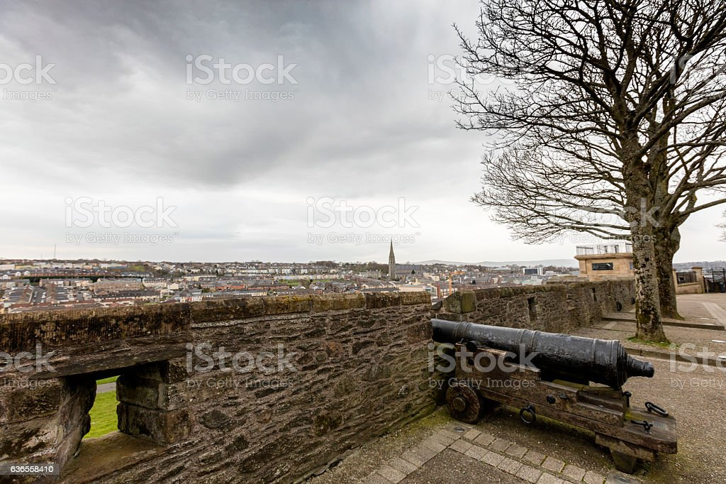Th Walls of Derry stock photo