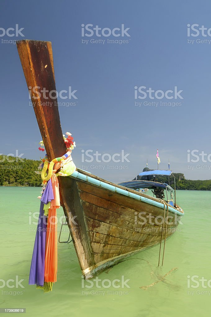 Thaï Longtail Boat royalty-free stock photo