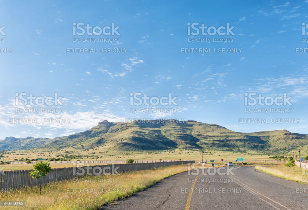 Thaba Nchu mountain next to N8-road at Thaba Nchu stock photo