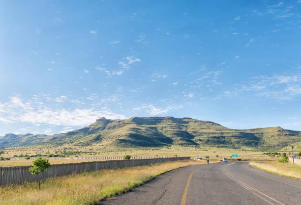 Thaba Nchu mountain next to N8-road at Thaba Nchu stock photo