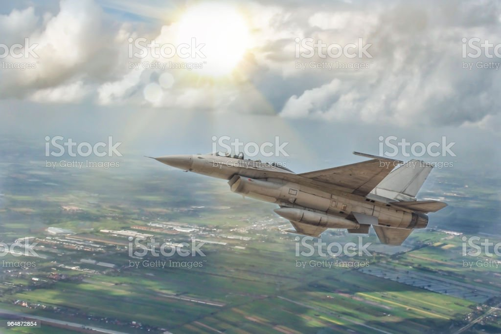 Thai Air Force is flying royalty-free stock photo
