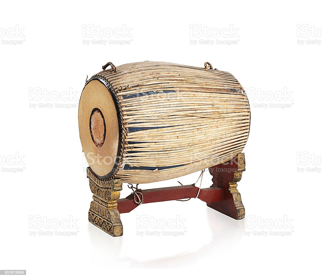Thai Ancient Drum Music Instrument Stock Photo - Download
