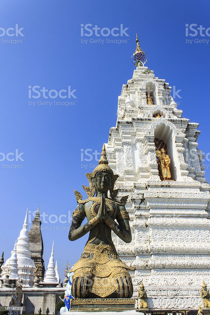 Thai angel in Wat Ban Den royalty-free stock photo