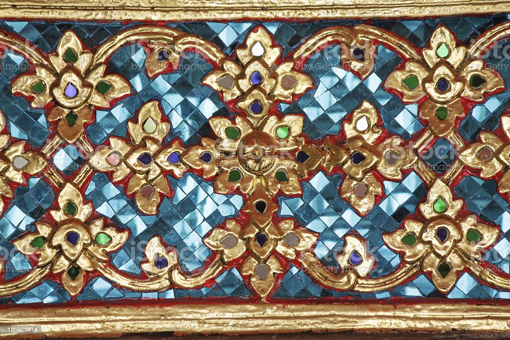 Thai art ornament royalty-free stock photo