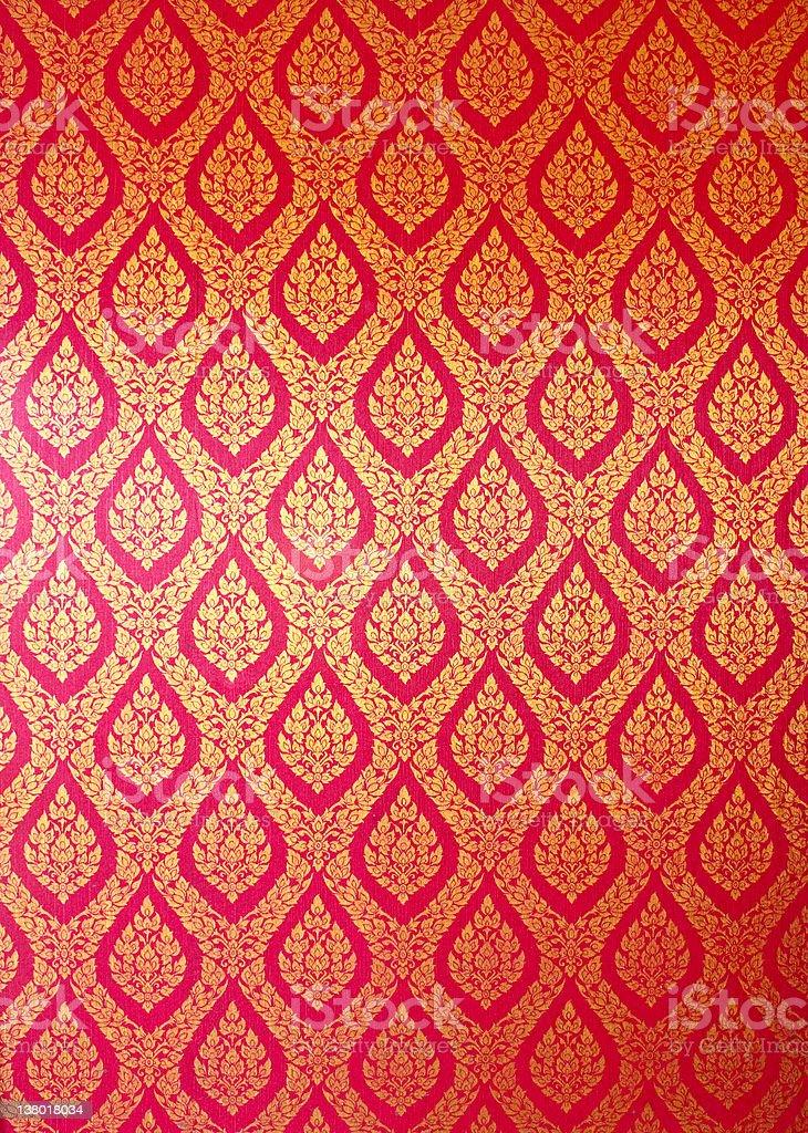 Thai art wall pattern royalty-free stock photo
