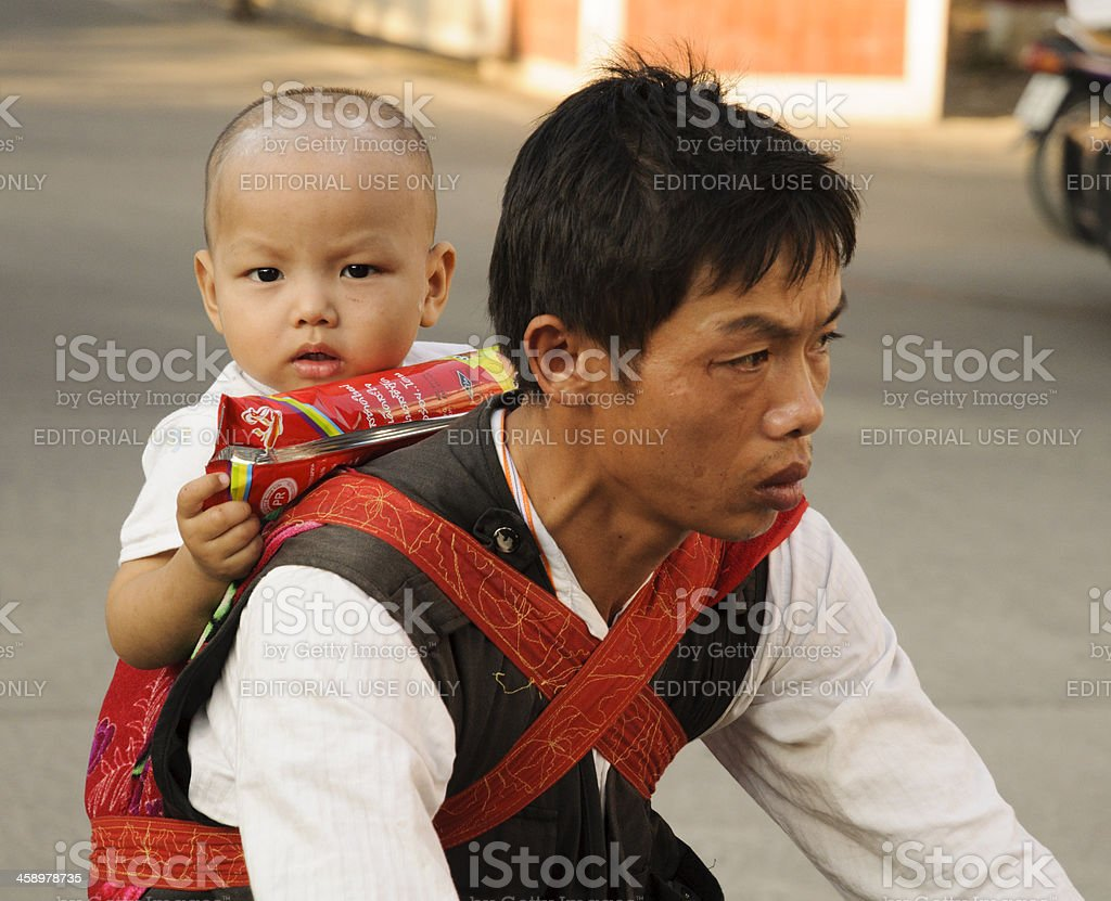 Thai Baby and Father royalty-free stock photo