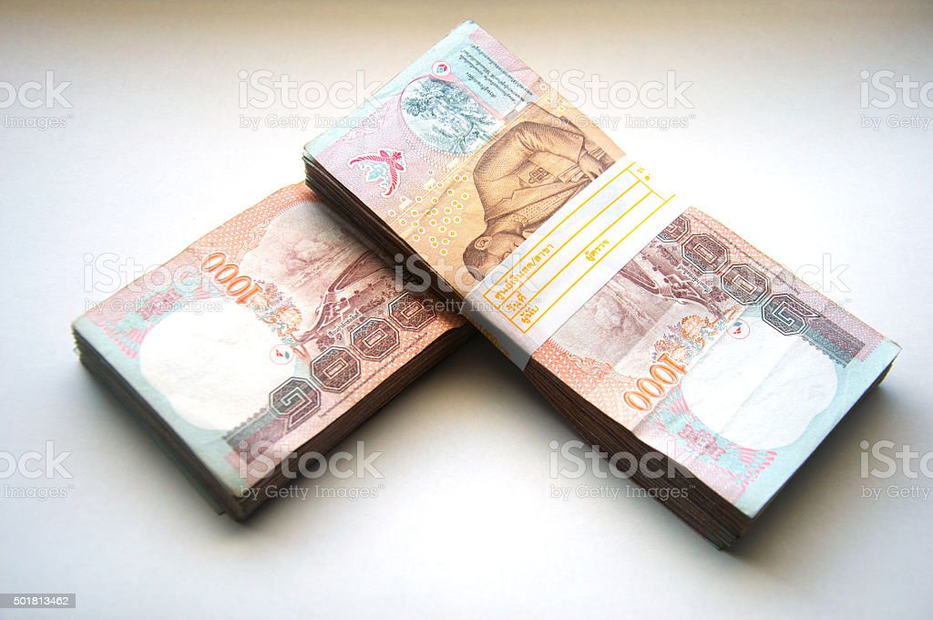 Thai baht 1000 Bahts stock photo