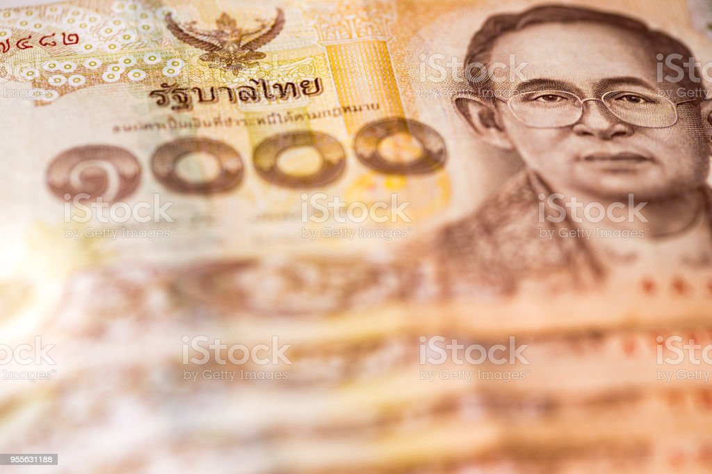 Thai Baht Bank Notes stock photo