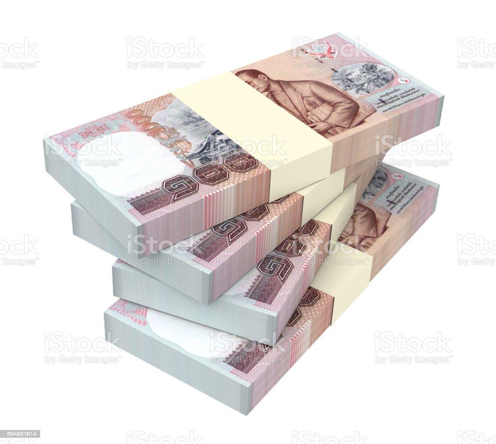 Thai baht bills stock photo