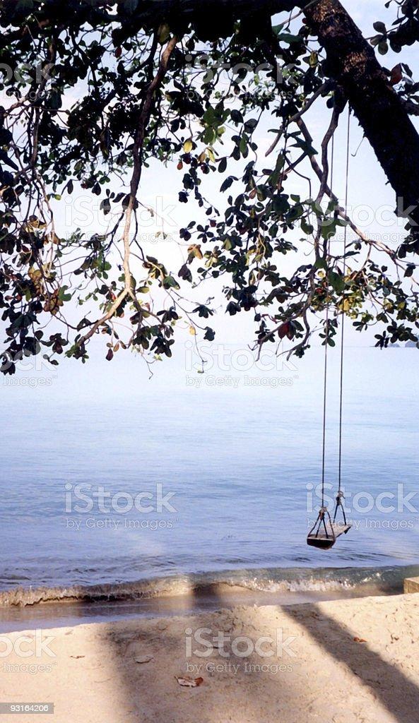 Thai beach swing royalty-free stock photo