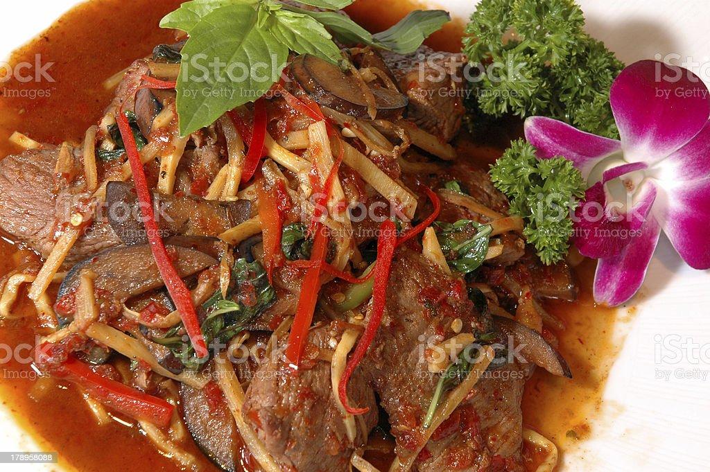 Thai Beef royalty-free stock photo