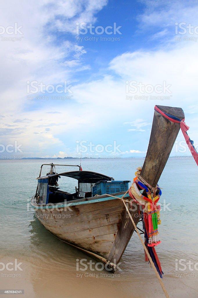 thai boat stock photo