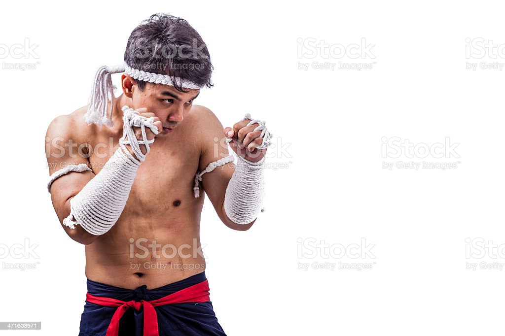 thai boxer stock photo