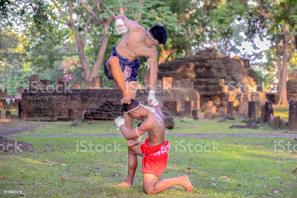 Thai Boxing, Muay Thai, Muay Boran stock photo