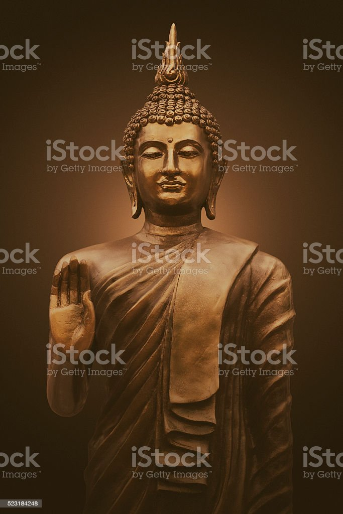 Thai buddha sculpture stock photo