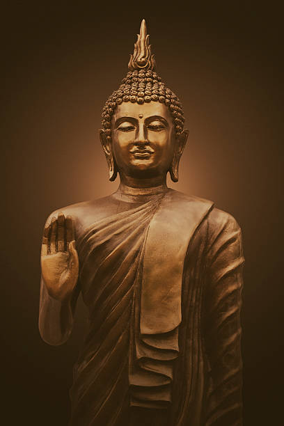 Thai buddha sculpture stock photo