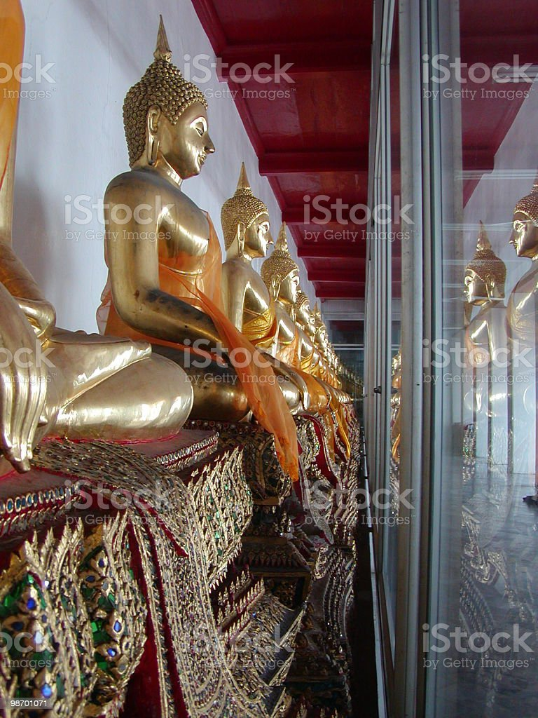 Thai Buddha's royalty-free stock photo