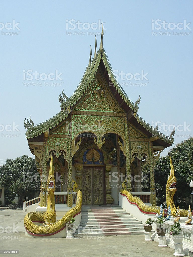 Thai Buddhist temple 2 royalty-free stock photo
