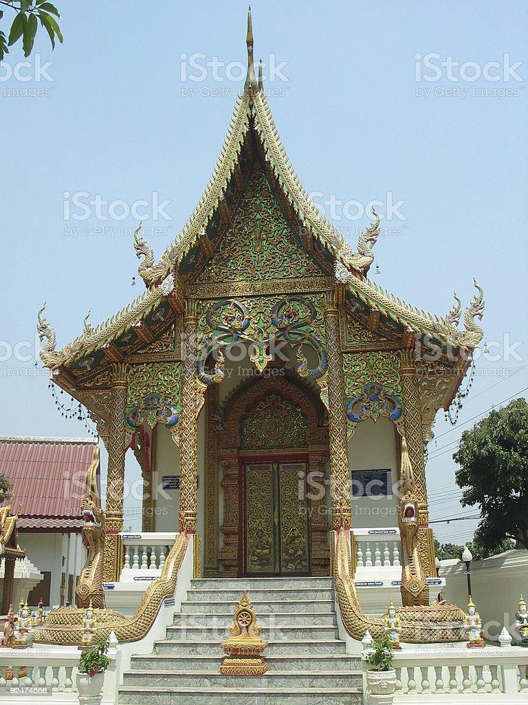 Thai Buddhist temple 3 royalty-free stock photo