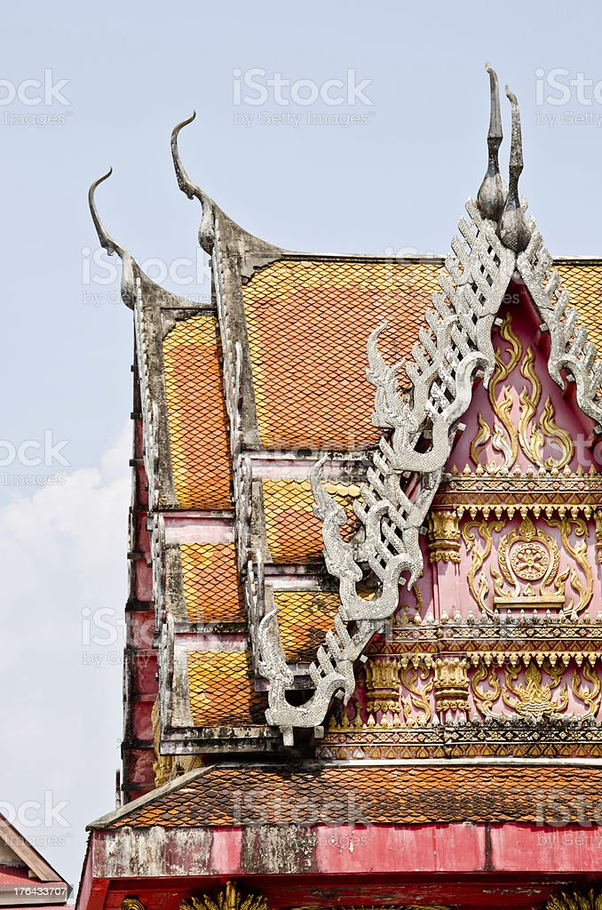 Thai Buddhist temple in Kanchanaburi royalty-free stock photo