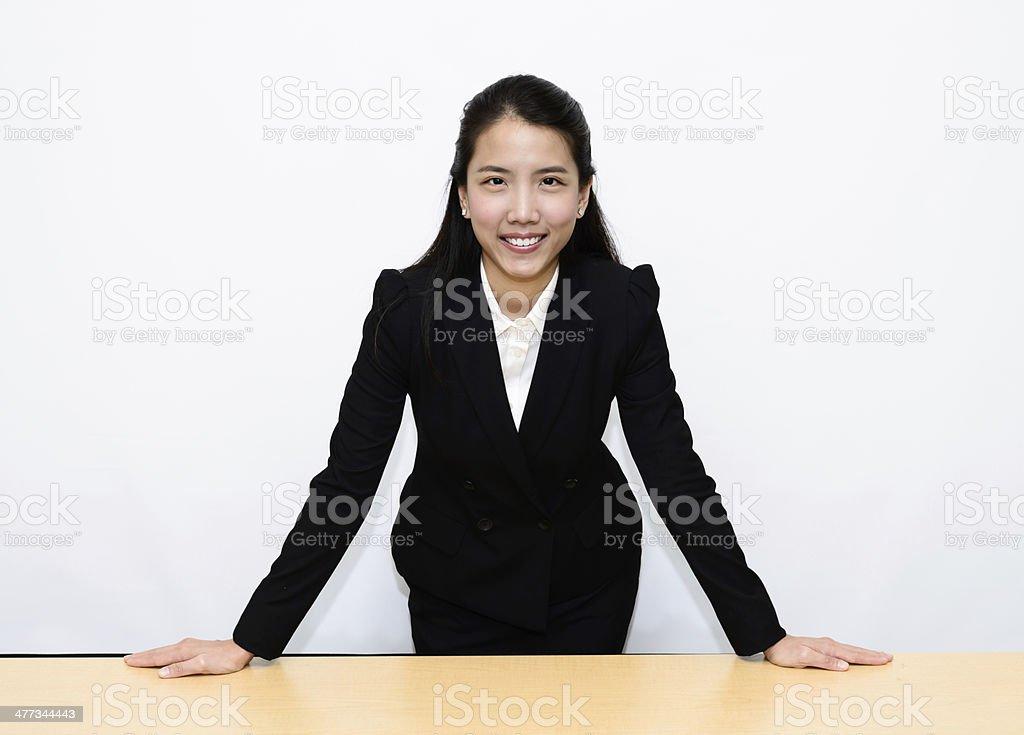 Thai Business Woman standing stock photo