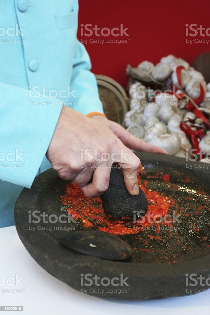 Thai chef royalty-free stock photo