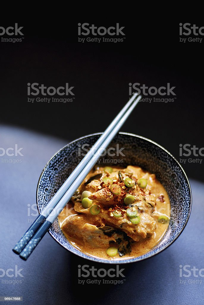 Thai Chicken and Bamboo Red Curry royalty-free stock photo