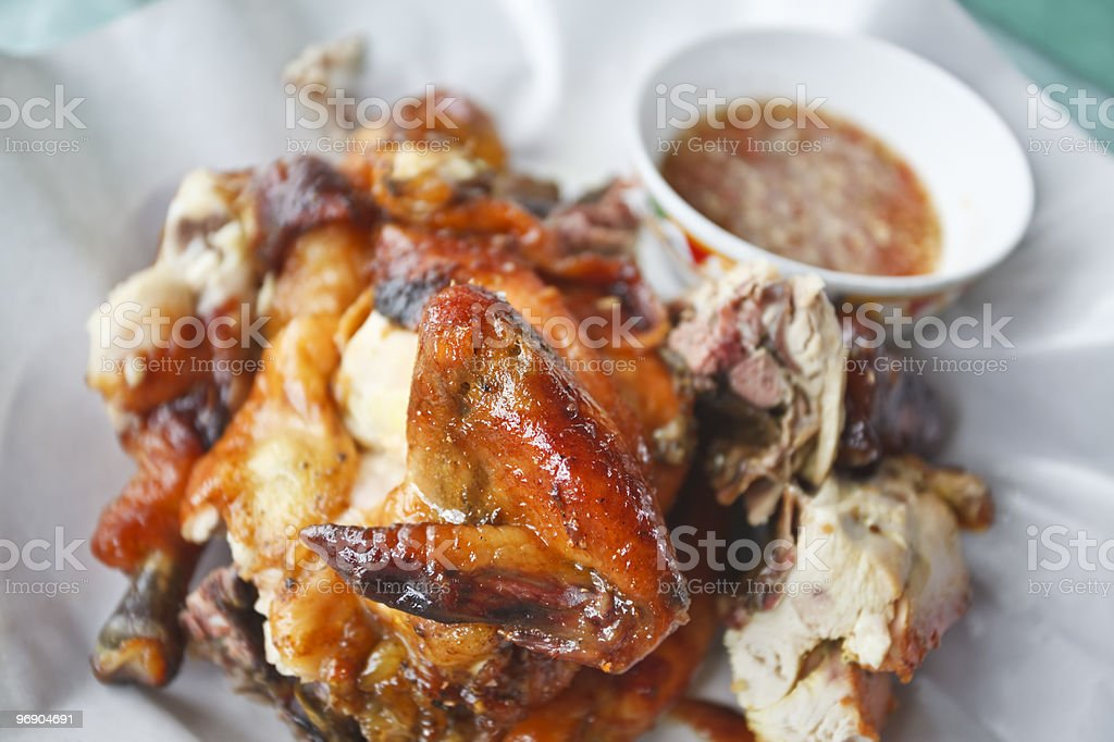 Thai chicken meal. royalty-free stock photo