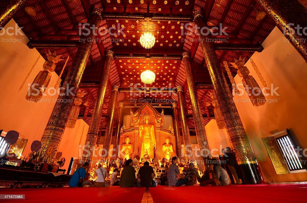 Thai church. royalty-free stock photo