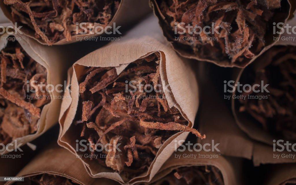 Thai cigars close up on background stock photo