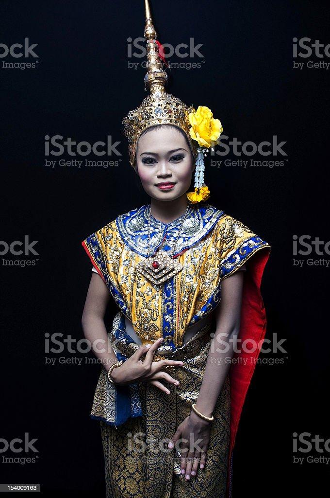 Thai classical dancer royalty-free stock photo