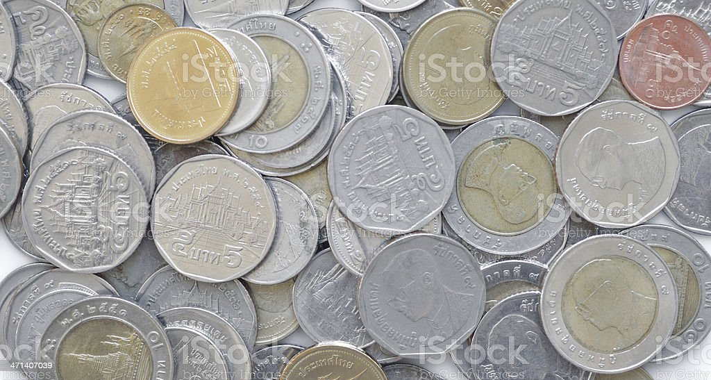 thai coin royalty-free stock photo