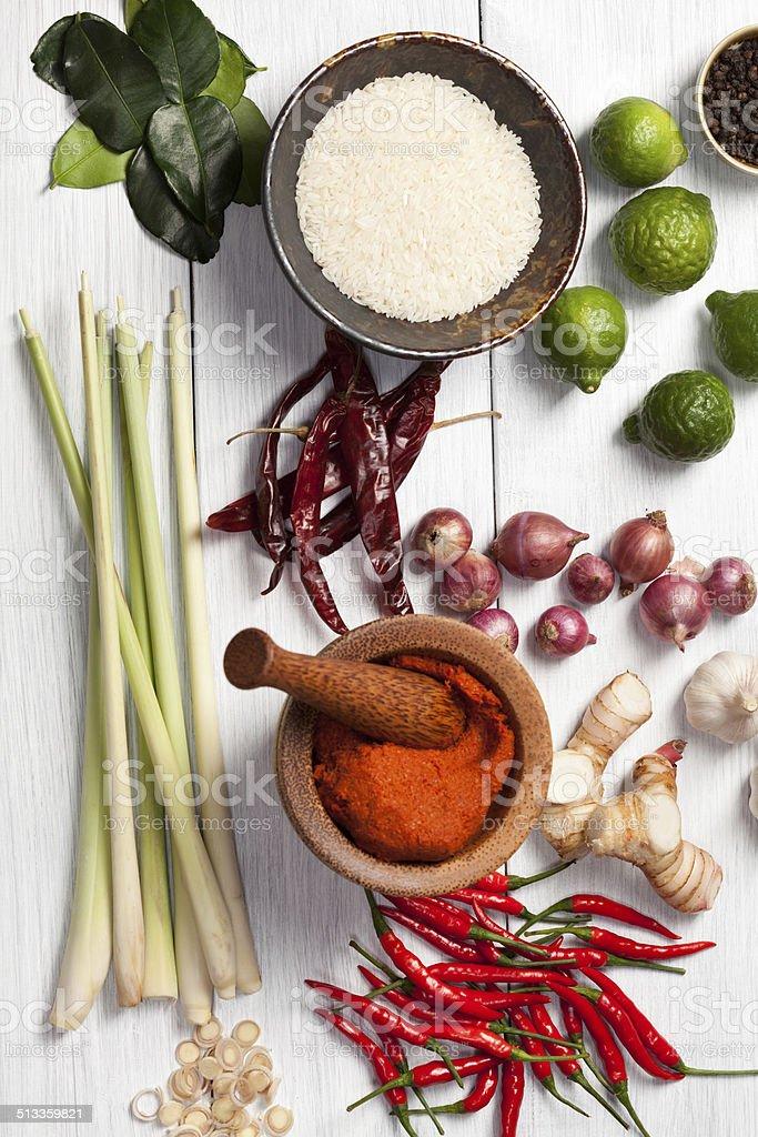 Thai Cooking Ingredients stock photo