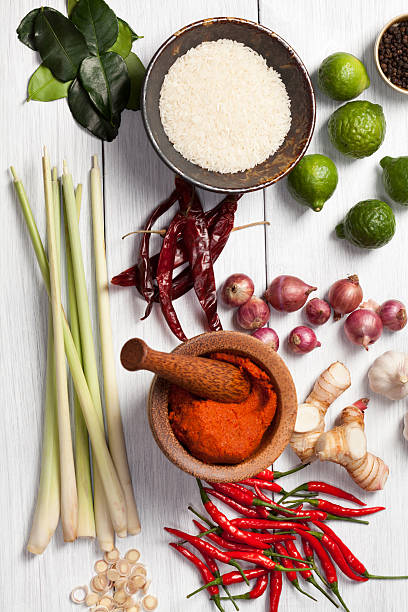 Thai Cooking Ingredients stock photo