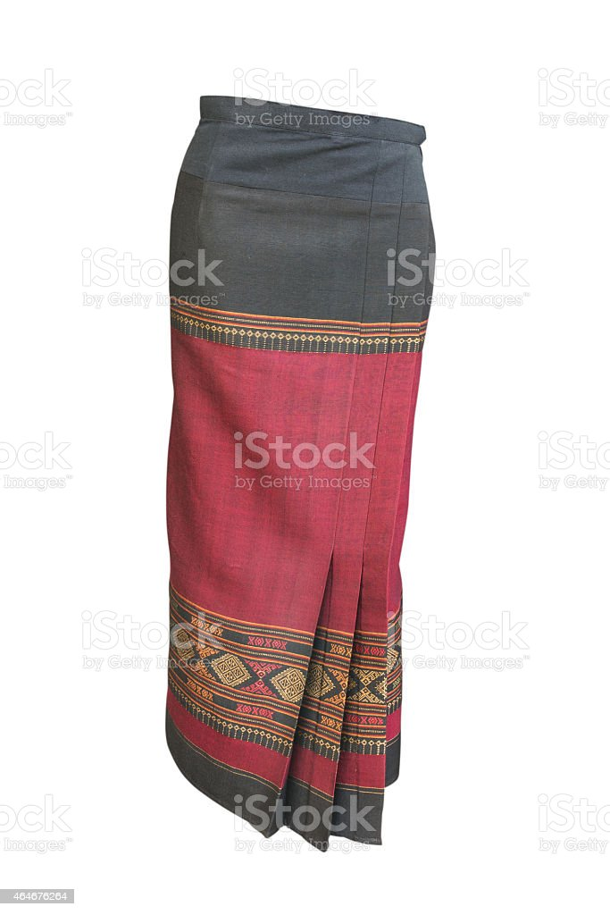 Thai cotton skirt with clipping path stock photo