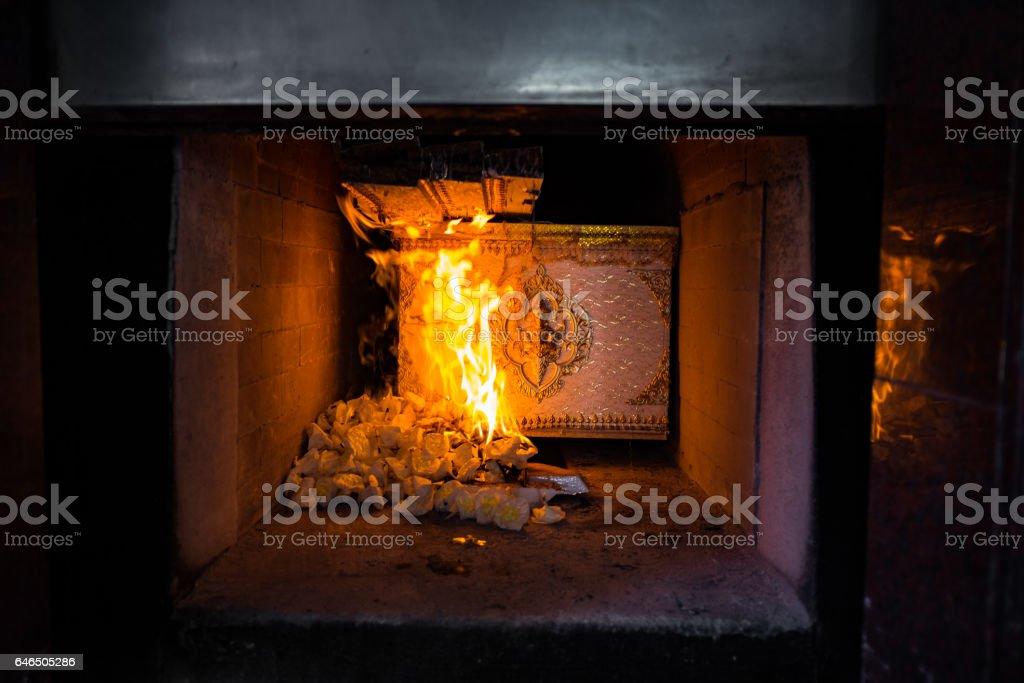 Thai cremation ceremony stock photo