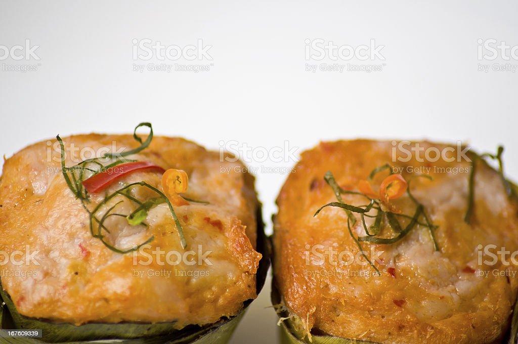 Thai cuisine food call HORMOK royalty-free stock photo