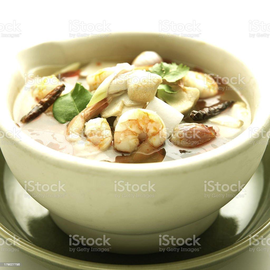 Thai Cuisine,Tom Yum Goong royalty-free stock photo
